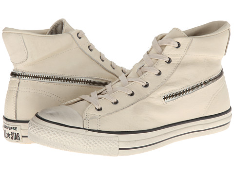Converse by John Varvatos - Chuck Taylor All Star Zip Hi - Tumbled Goat (Turtledove) Lace up casual Shoes