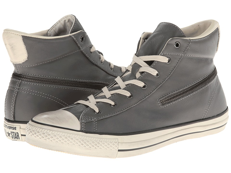 Converse - Chuck Taylor All Star Zip Hi - Tumbled Goat (Charcoal Gray) Lace up casual Shoes