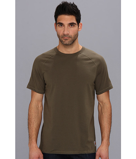 Carhartt - Force Cotton Delmont Non Pocket S/S T-Shirt (Moss) Men's Short Sleeve Pullover
