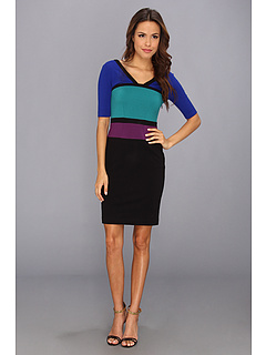 SALE! $119.99 - Save $108 on BCBGMAXAZRIA Rickie The Color Block (Black Comb) Apparel - 47.37% OFF $228.00