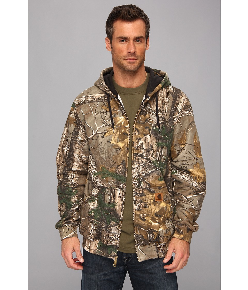 Carhartt - MW WorkCamo Hooded Zip Front Sweatshirt (Realtree Xtra) Men's Sweatshirt