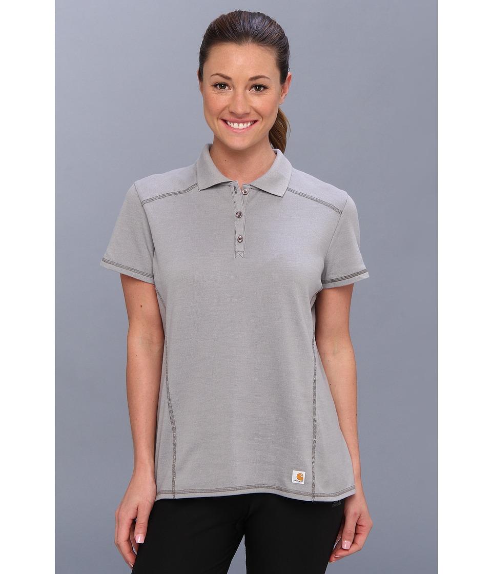 Carhartt - Force Verdon Polo (Asphalt Heather) Women's Short Sleeve Pullover