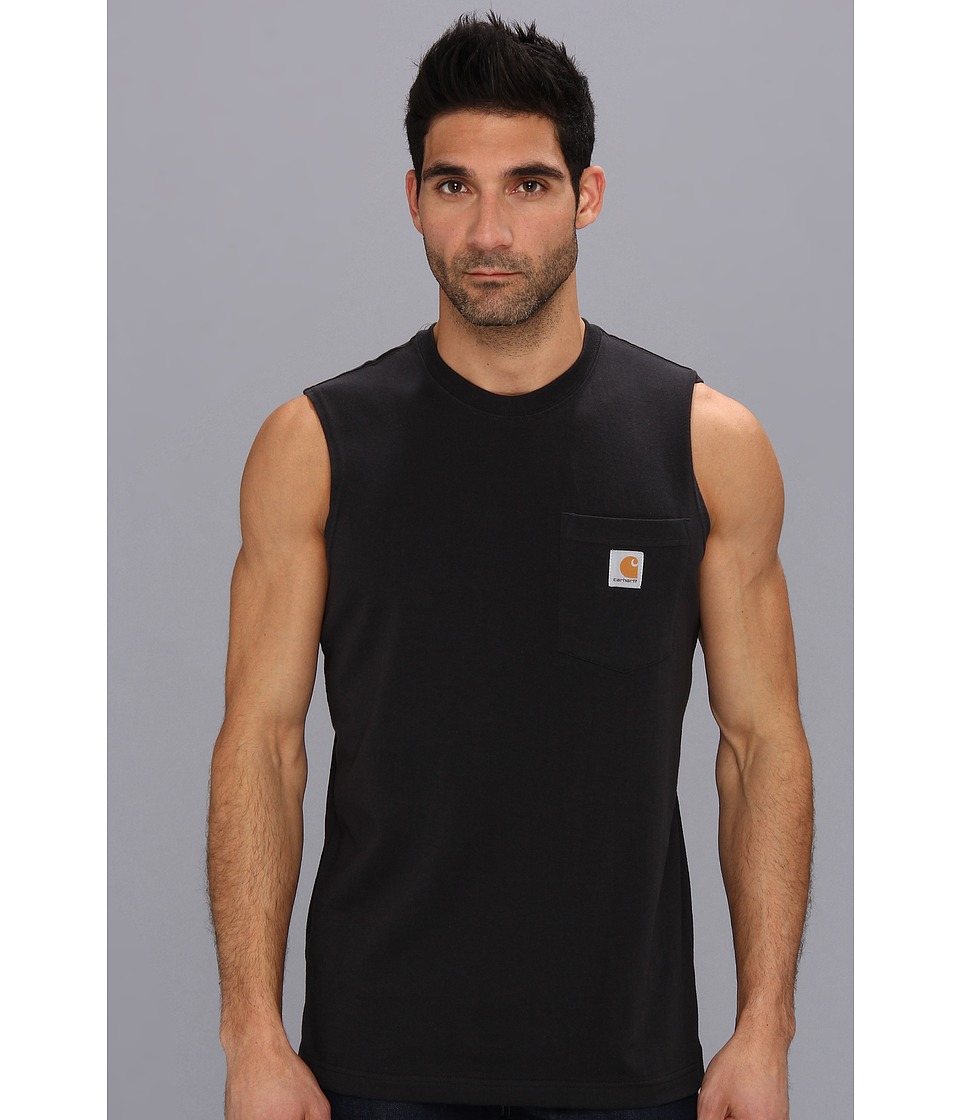 Carhartt - Workwear Pocket Sleeveless T-Shirt (Black) Men's T Shirt