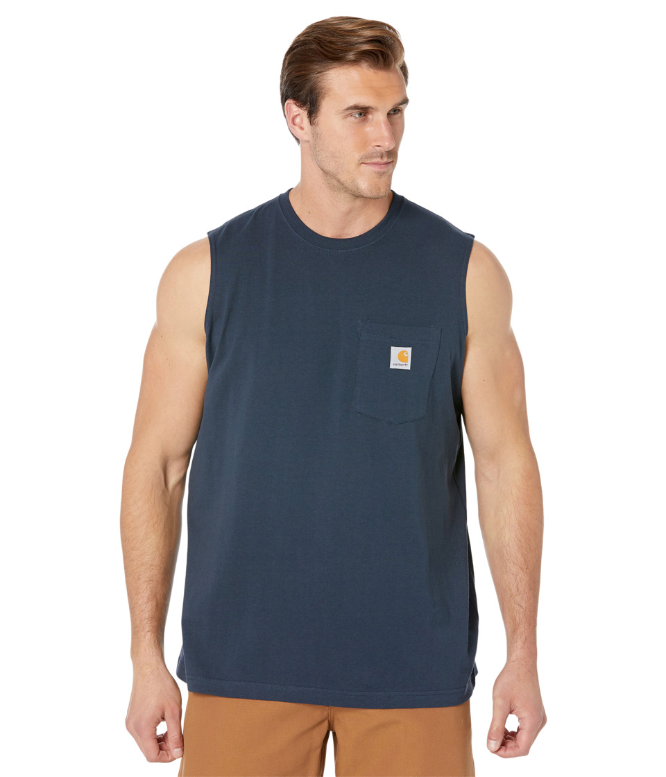 Carhartt - Workwear Pocket Sleeveless T-Shirt (Navy) Men's T Shirt