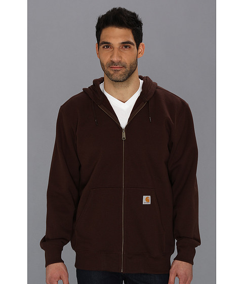 Carhartt - Rain Defender Paxton Heavy Weight Hooded Zip-Front Sweatshirt (Dark Brown) Men's Sweatshirt