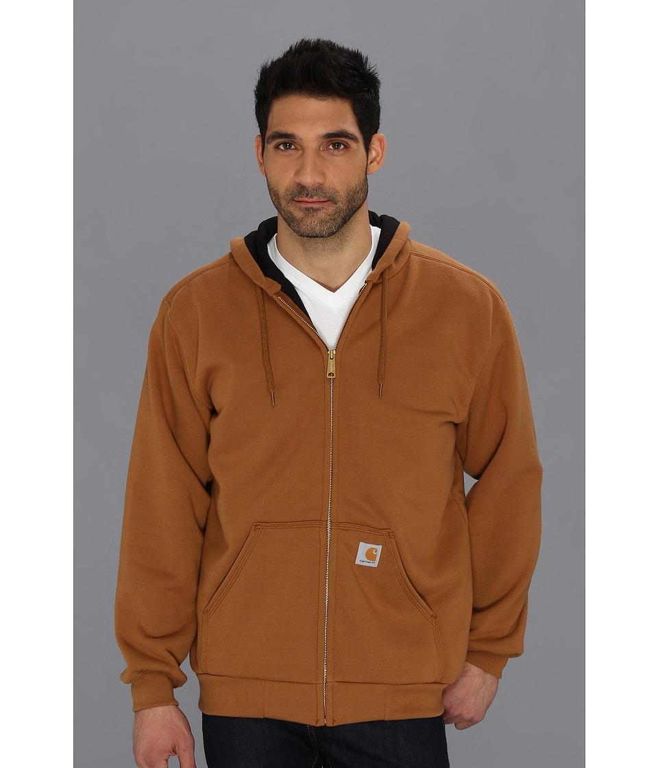 Carhartt - RD Rutland Thermal-Lined Hooded Zip-Front Sweatshirt (Carhartt Brown) Men