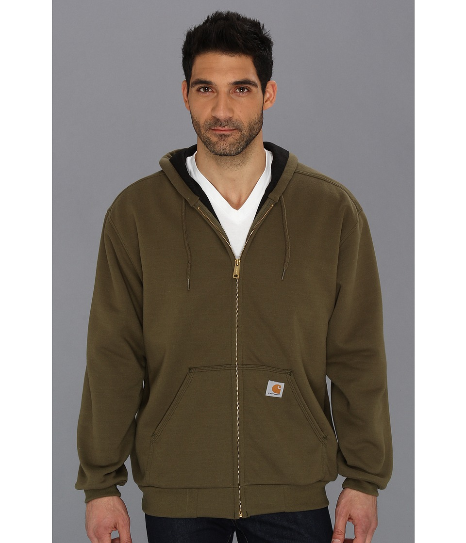 Carhartt - RD Rutland Thermal-Lined Hooded Zip-Front Sweatshirt (Army Green) Men's Sweatshirt