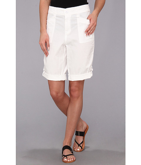 Caribbean Joe - Skimmer w/ Patch Pockets (White) Women's Shorts