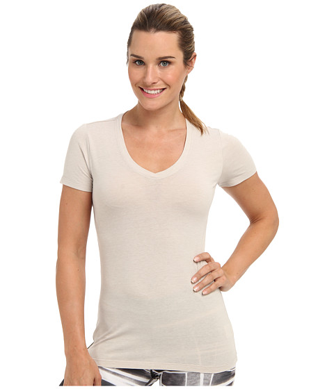 Lole - Friend Top (Silver Cloud Heather) Women's Short Sleeve Pullover
