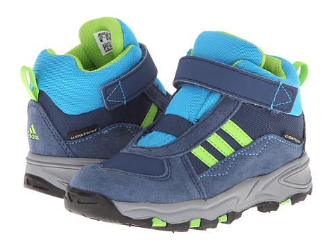 adidas Outdoor Kids - Powderplay Mid CF CP I (Infant/Toddler) (Rich Blue/Semi Solar Green/Solar Blue) Boys Shoes