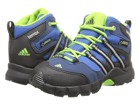 adidas Outdoor Kids - Terrex Mid GTX I (Infant/Toddler) (Blue Beauty/Black/Semi Solar Green) Boy