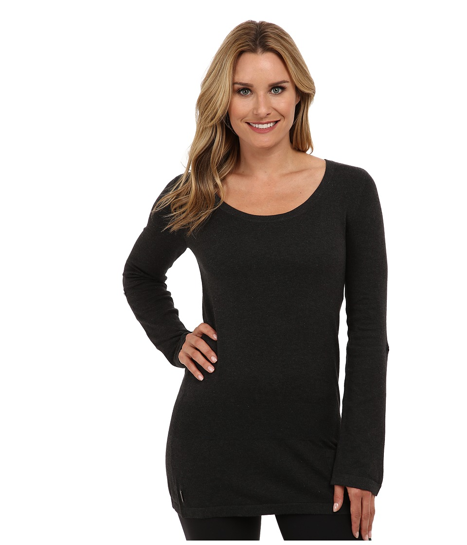 Lole - Imagine Tunic (Dark Charcoal Heather) Women's Long Sleeve Pullover