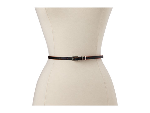 Lodis Accessories - Audrey Skinny Leather Adjustable Hip with Contrast Edge Paint Belt (Black) Women's Belts