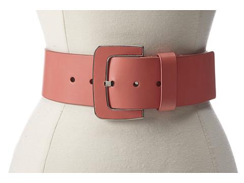Lodis Accessories - Audrey Inlay Buckle High Waist Belt (Papaya) Women's Belts