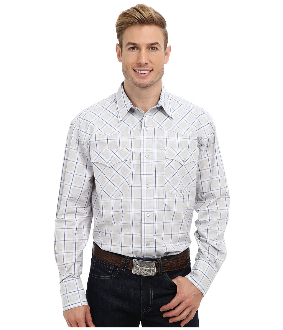 Roper - 9012 Off The Grid Check (Brown) Men's Clothing