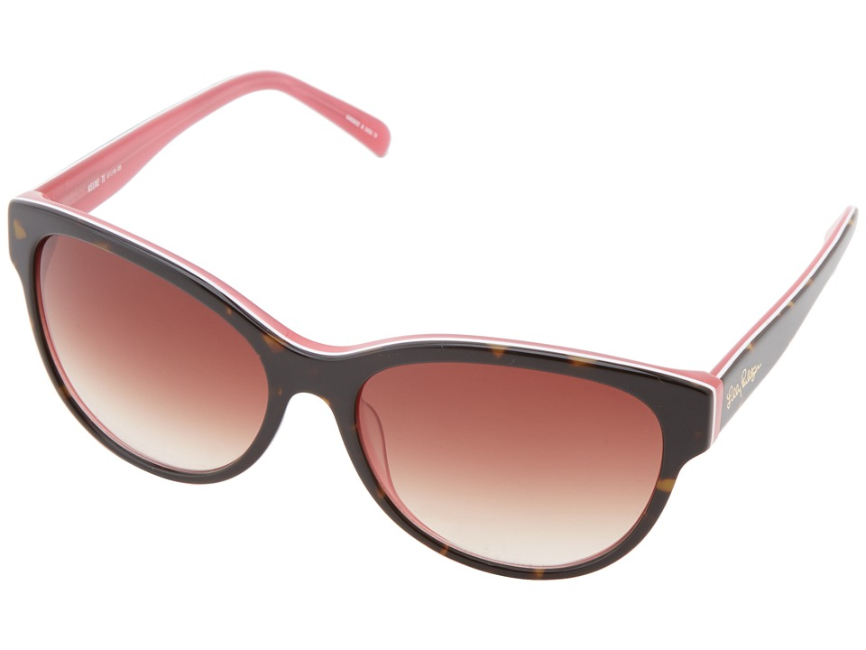 Lilly Pulitzer - Keene (Tortoise White Pink Laminate) Fashion Sunglasses