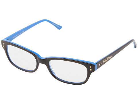 Lilly Pulitzer - Coastal Reader (Dark Tortoise Schooner Blue Laminate) Reading Glasses Sunglasses