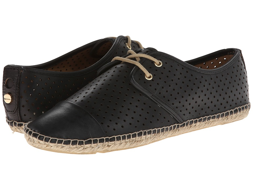 Isaac Mizrahi New York - Nice (Black Leather) Women's Flat Shoes