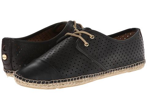 Isaac Mizrahi New York - Nice (Black Leather) Women's Flat Shoes
