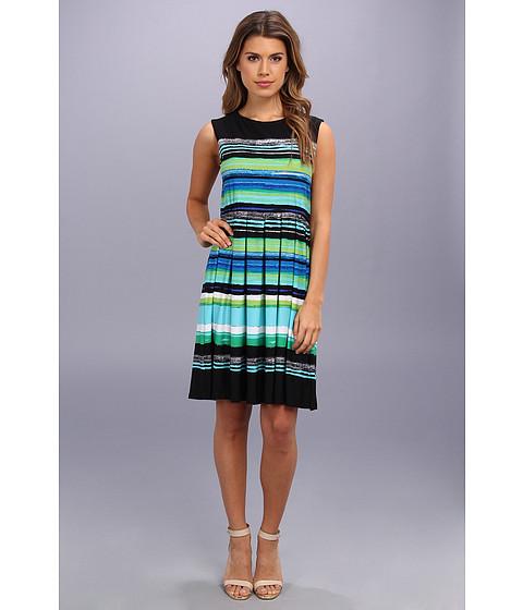 Christin Michaels - Jennah (Black/Blue/Green) Women's Short Sleeve Pullover