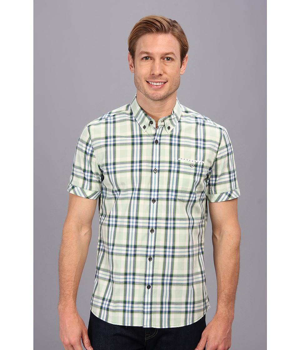 7 Diamonds - Half Moon Bay S/S Shirt (Green) Men