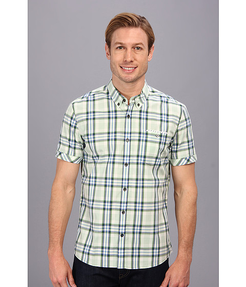 7 Diamonds - Half Moon Bay S/S Shirt (Green) Men