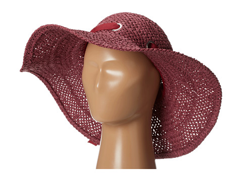 San Diego Hat Company - PBL3022 Grommet Paper Weave Floppy (Sangria) Traditional Hats