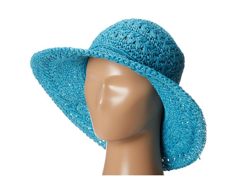San Diego Hat Company - PBM1022 Medium Brim Crochet Floppy (Turqoise) Traditional Hats