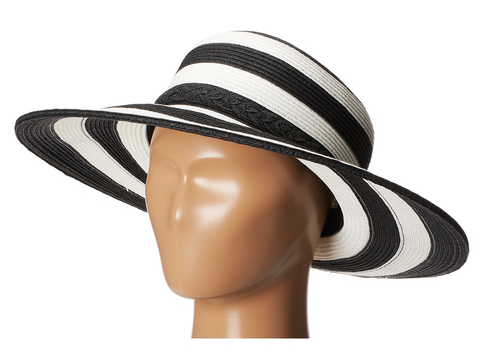 San Diego Hat Company - UBM4432 Striped Floppy (Black Stripe) Traditional Hats