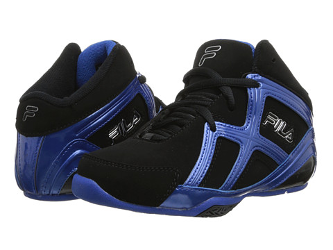 Fila Kids - Revenge 2 (Little Kid/Big Kid) (Black/Prince Blue/Metallic Silver) Boys Shoes