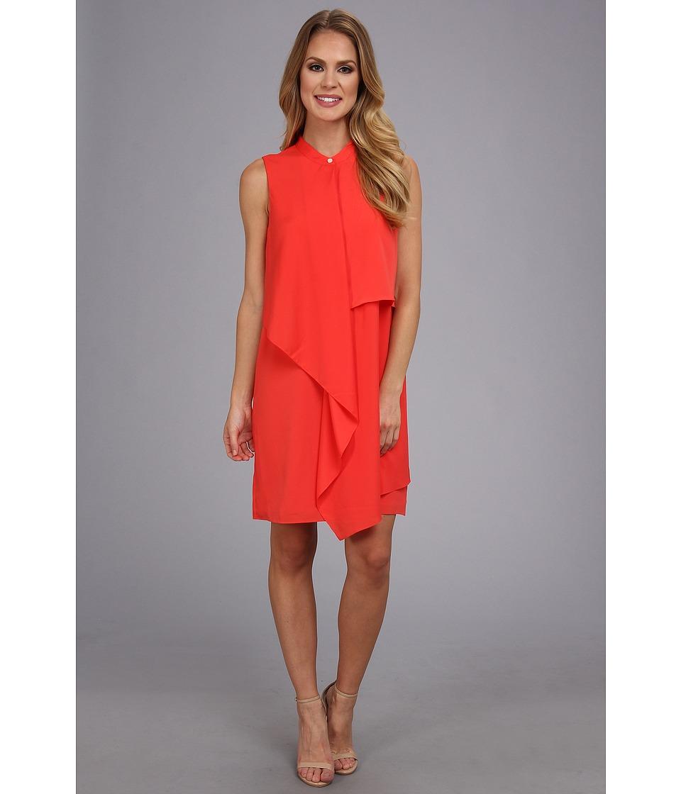 DKNYC Sleeveless Tiered Dress Womens Dress (Brown)