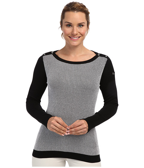 PUMA Golf - Novelty Sweater (White/Black) Women's Sweater