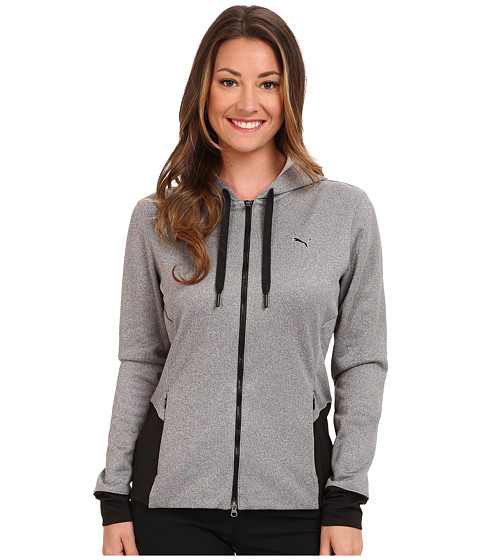 PUMA Golf - Full Zip Hoody (Black Heather) Women's Sweatshirt