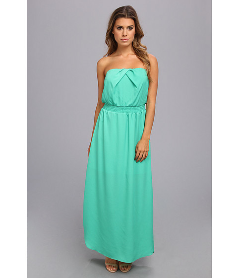 DKNYC - Strapless Maxi Dress w/ Elastic Waist (Cactus) Women's Dress