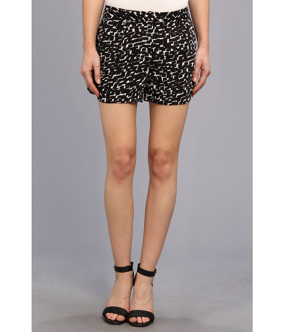 DKNYC - Scalloped Hem Shorts (Black) Women