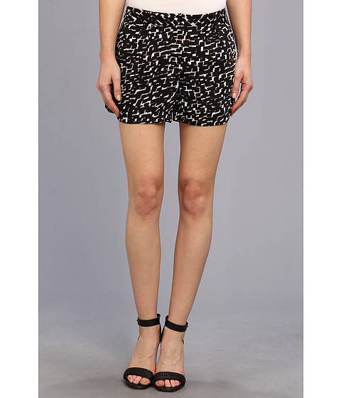 DKNYC - Scalloped Hem Shorts (Black) Women's Shorts