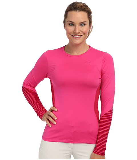 PUMA Golf - Novelty L/S Top (Fuchsia Purple) Women