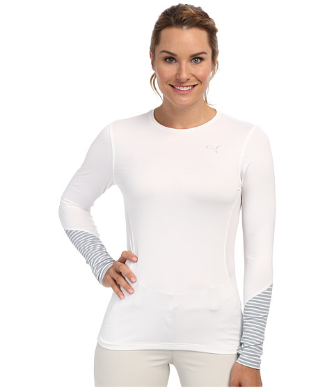 PUMA Golf - Novelty L/S Top (White) Women's Clothing