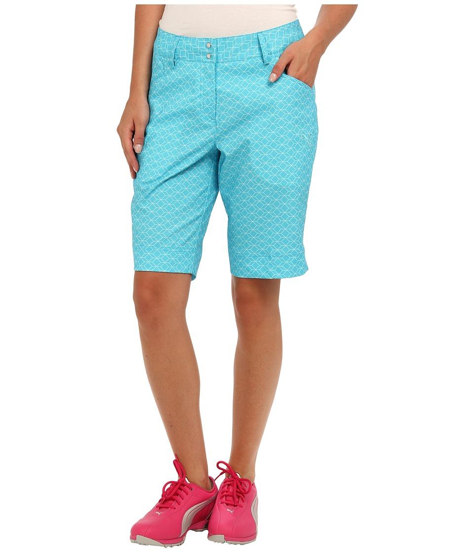 PUMA Golf - Pattern Bermuda Short (Scuba Blue/White) Women