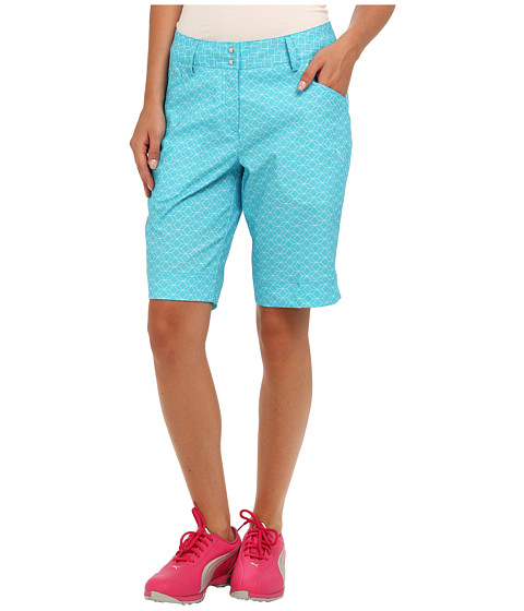 PUMA Golf - Pattern Bermuda Short (Scuba Blue/White) Women's Shorts