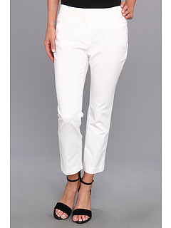SALE! $41.99 - Save $48 on DKNYC Super Stretch Sateen Ankle Cropped Pant (White) Apparel - 53.08% OFF $89.50