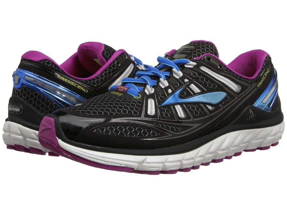 Brooks - Transcend (Black/White/Festival Fuchsia) Women's Running Shoes