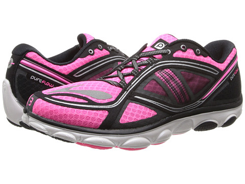 Brooks - PureFlow 3 (Brite Pink/Black/Silver) Women's Running Shoes