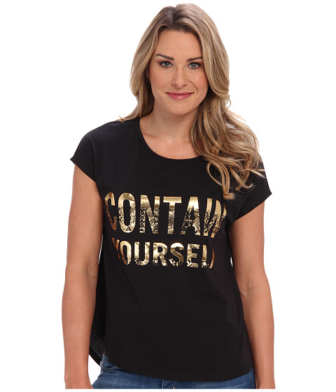 Kenneth Cole New York - Paola Knit (Black/Gold) Women's T Shirt