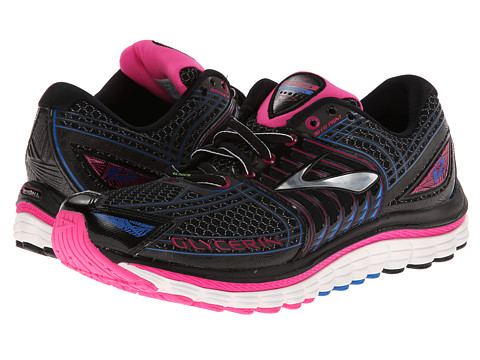 Brooks - Glycerin 12 (Anthracite/Black/Pink Glo/Electric Blue Lem) Women's Running Shoes