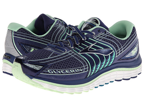Brooks - Glycerin 12 (Blue Print/Patna Green/Silver/Ocn Depth) Women