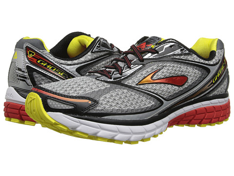 Brooks - Ghost 7 (Silver/Black/Mars Red) Men's Running Shoes