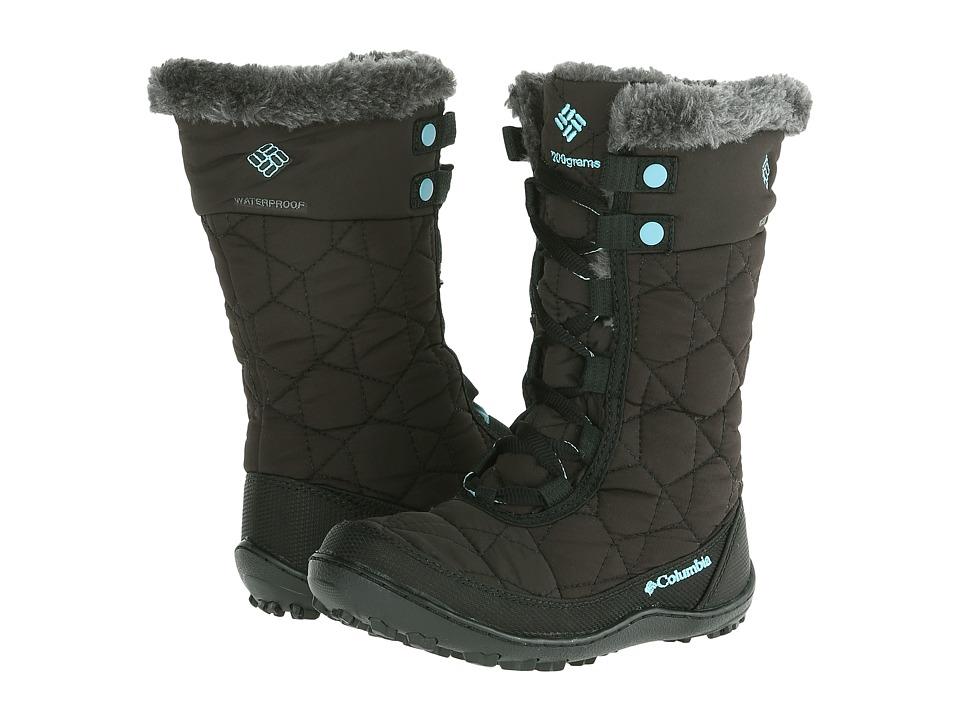 Columbia Kids Minxtm Mid II Omni-Heattm Waterproof (Little Kid/Big Kid) (Black/Iceberg) Girls Shoes