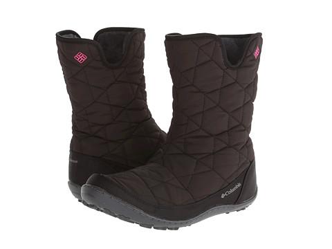 Columbia Kids - Minx Slip Omni-Heat Waterproof (Little Kid/Big Kid) (Black/Glamour) Girls Shoes