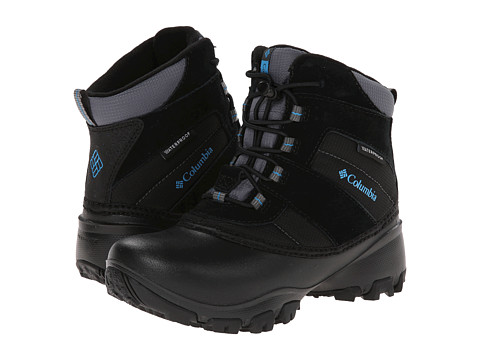 Columbia Kids - Rope Tow III Waterproof (Toddler/Little Kid/Big Kid) (Black/Dark Compass) Boys Shoes
